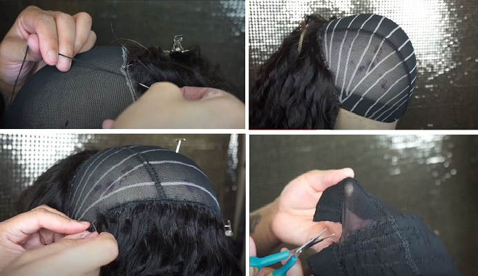 04 Blue Lace Front Wig Human Hair
