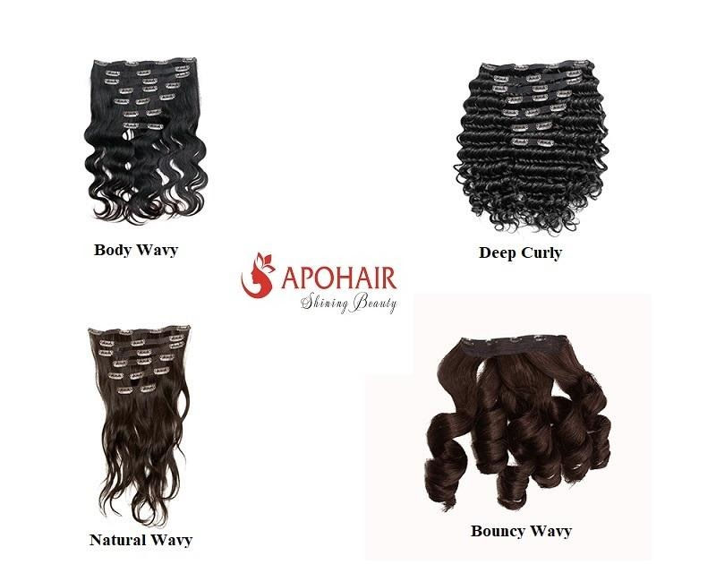 clip in weft hair extensions by APOHAIR